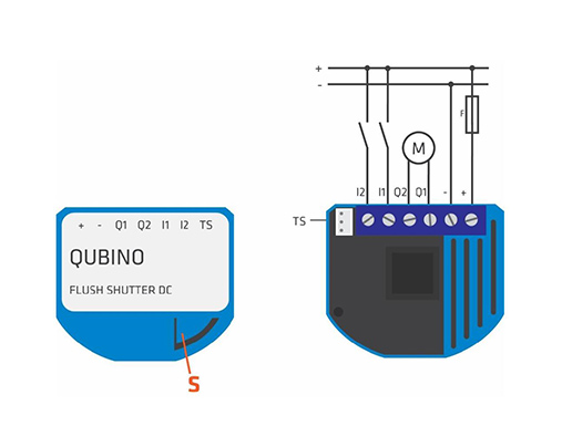 Qubino Flush Shutterr DC diagram