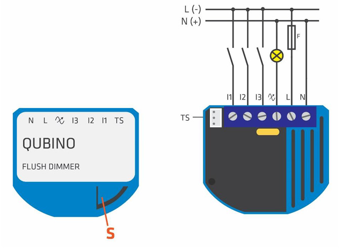 Flush Dimmer - Electric diagram