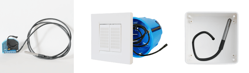 Installation on temperature sensor