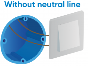 Electrical wiring without neutral line