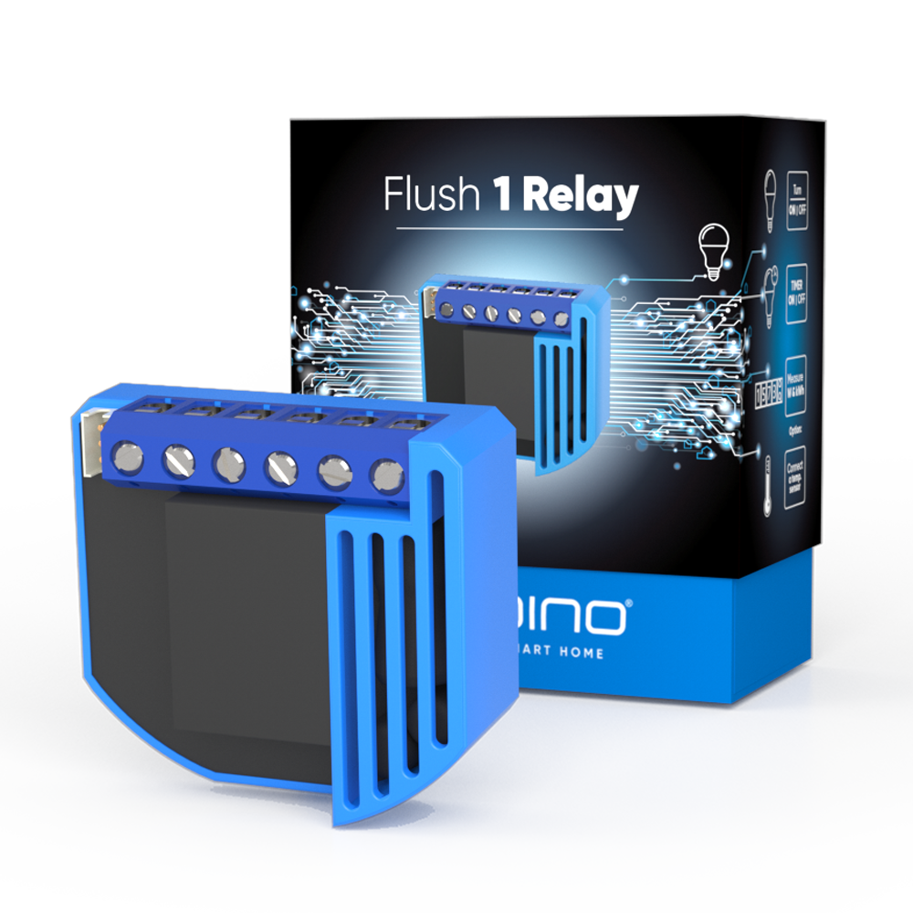 Flush 1 Relay Z-Wave Smart Home device with new packaging box