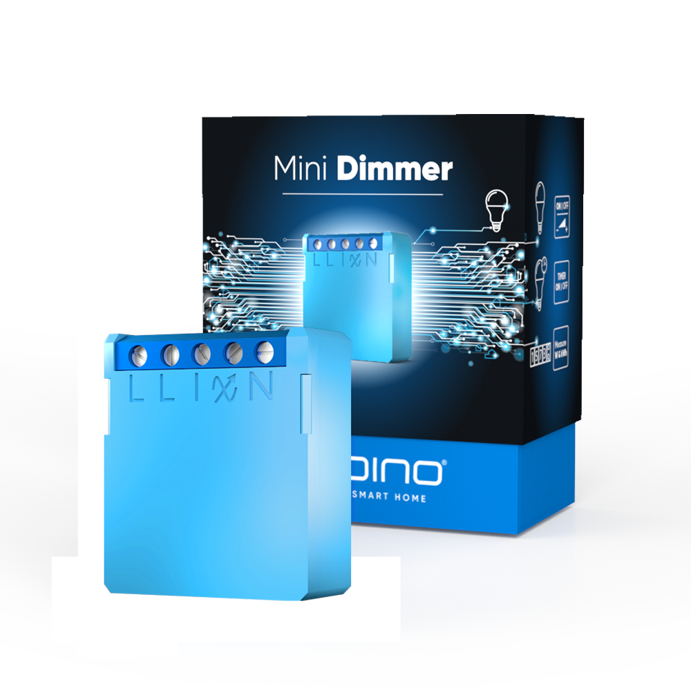 Qubino Mini Dimmer Z-Wave Smart Home device with new packaging box