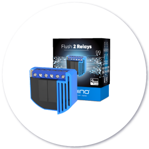Qubino 2 Relays product with packaging