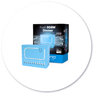 Flush RGBW Dimmer product with packaging