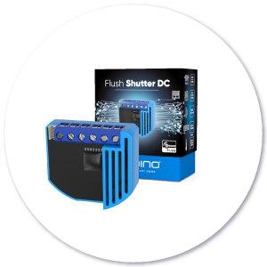 Flush Shutter DC product with packaging